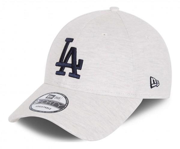 New Era - MLB Los Angeles Dodgers Jersey Essential 9Forty Strapback Cap - Grau Ansicht vorne schräg links