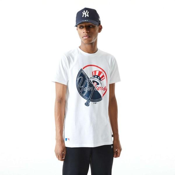 New Era - MLB New York Yankees Split Graphic T-Shirt - Weiß Vorderansicht