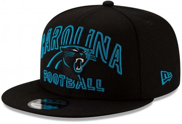 New Era - NFL Carolina Panthers 2020 Draft Alternative 9Fifty Snapback Cap - Schwarz Ansicht vorne schräg links