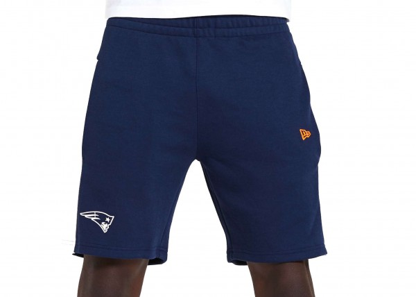 New Era - NFL New England Patriots Contrast Detail Shorts - Blau Vorderansicht