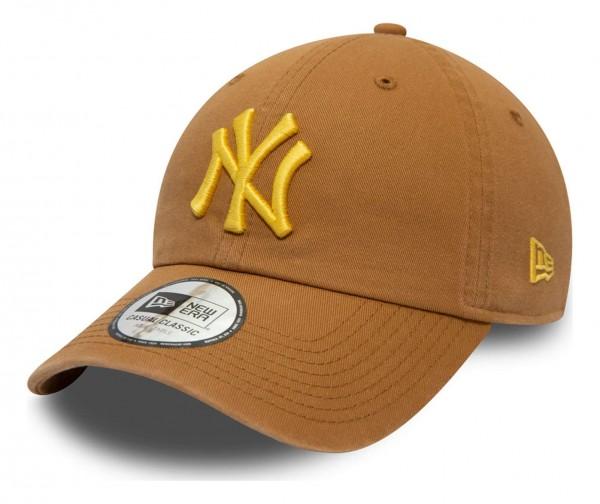 New Era - MLB New York Yankees League Essential Casual Classic 9Twenty Strapback Cap - Schwarz Ansicht vorne schräg links
