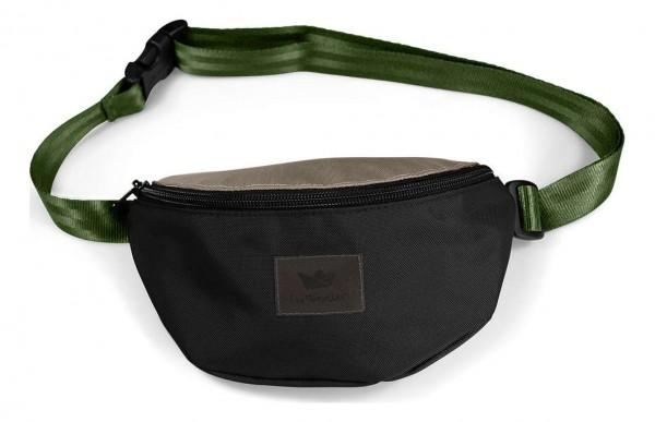 Freibeutler - Hip Bag Oliv Strap Tasche - Schwarz Vorderansicht