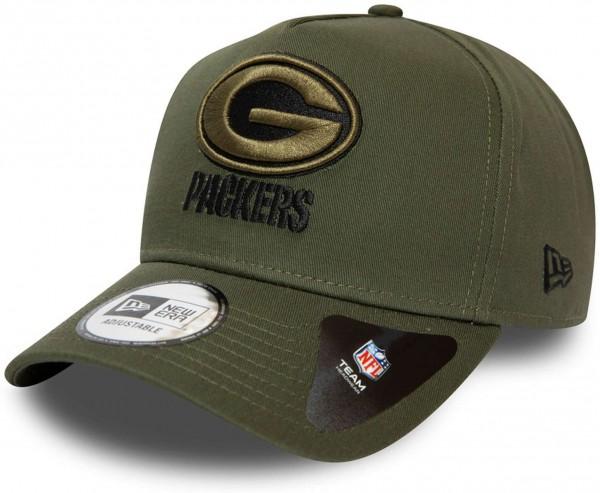 New Era - NFL Green Bay Packers A-Frame Closed Back Snapback Cap - Grün Ansicht vorne links