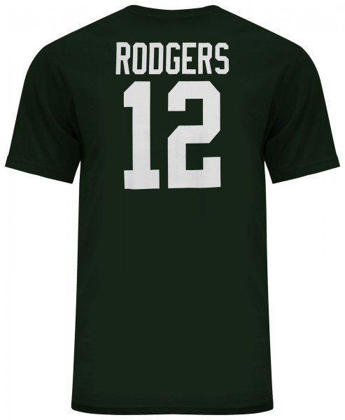 Majestic Athletic - NFL Green Bay Packers Rodgers #12 N&N T-Shirt - green