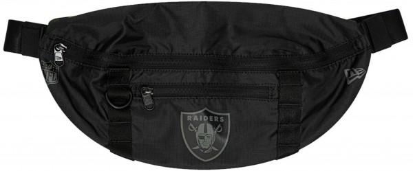 New Era - NFL Oakland Raiders Waist Bag Light Tasche - Schwarz Vorderansicht