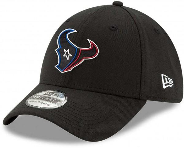 New Era - NFL Houston Texans 2020 Draft Official 39Thirty Stretch Cap - Schwarz Ansicht vorne schräg links