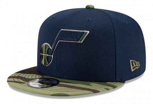 New Era - NBA Utah Jazz ASG Camo 9Fifty Snapback Cap - Blau Ansicht vorne schräg rechts
