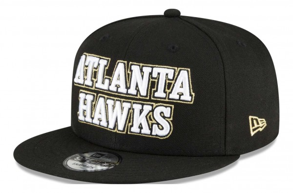 New Era - NBA Atlanta Hawks 2020 City Series Official 9Fifty Snapback Cap - Schwarz Ansicht vorne schräg links
