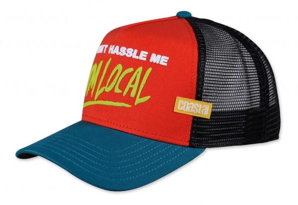 Coastal - Hassle Me Trucker Snapback Cap - Mehrfarbig Ansicht vorne schräg links
