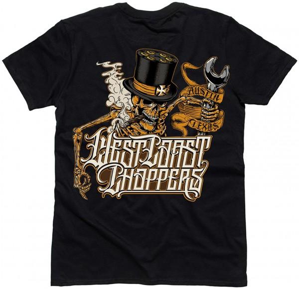 West Coast Choppers - WCC Onride T-Shirt - Schwarz Rückansicht