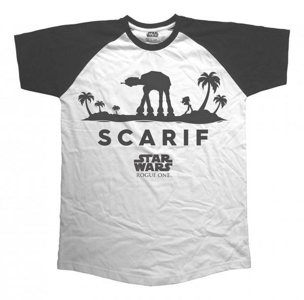 Bravado - Star Wars Rogue One AT-AT Silhouette Scarif T-Shirt - Weiß Vorderansicht