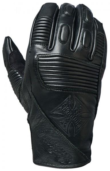 West Coast Choppers - WCC BFU Leather Riding Gloves Leder Handschuhe - schwarz