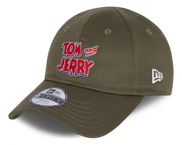 New Era - Tom and Jerry Film Character 9Forty Toddler Strapback Cap - Grün Ansicht vorne schräg links