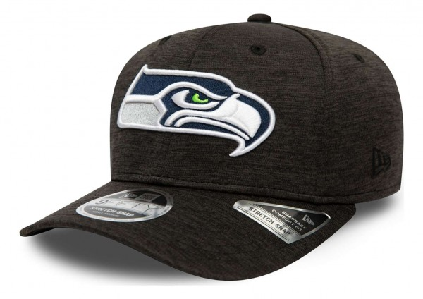 New Era - NFL Seattle Seahawks Total Shadow Tech 9Fifty Stretch Snapback Cap - Grau Ansicht vorne schräg links