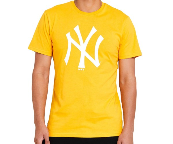 New Era - MLB New York Yankees Seasonal Team Logo T-Shirt - Gelb Vorderansicht