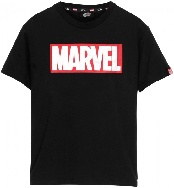 Left Side - Marvel Logo T-Shirt - Schwarz Frontansicht