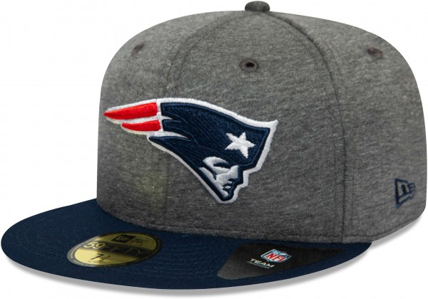 New Era - NFL New England Patriots Jersey Essential 59Fifty Fitted Cap - Grau Ansicht vorne links