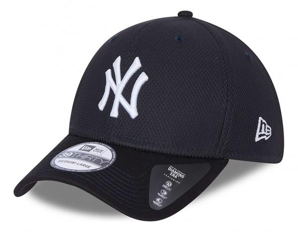 New Era - MLB New York Yankees Diamond Era 39Thirty Stretch Cap - Blau Ansicht vorne schräg links