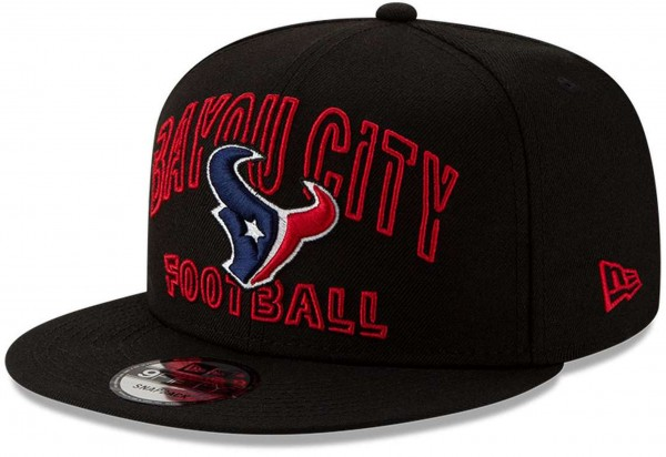 New Era - NFL Houston Texans 2020 Draft Alternative 9Fifty Snapback Cap - Schwarz Ansicht vorne schräg links