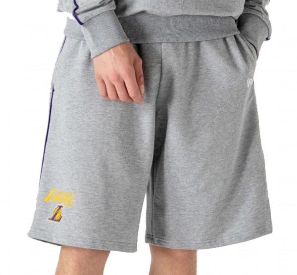 New Era - NBA Los Angeles Lakers Piping Short Shorts - Grau