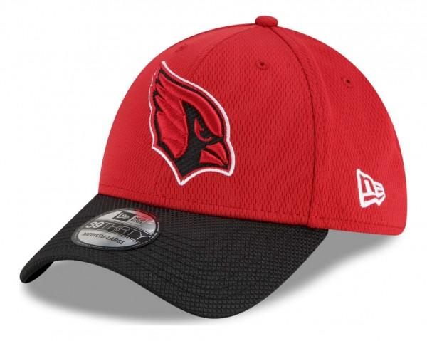 New Era - NFL Arizona Cardinals 2021 Sideline Road 39Thirty Stretch Cap - Rot Ansicht vorne schräg links