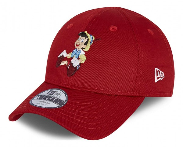 New Era - Pinocchio Film Character 9Forty Toddler Strapback Cap - Rot Ansicht vorne schräg links