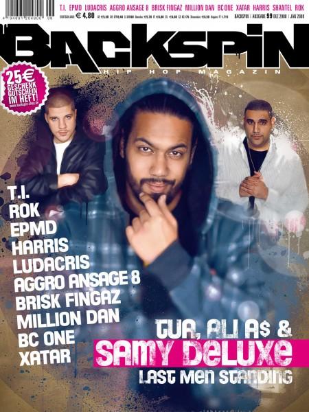 Auf dem Bild ist das Cover zu sehen der BACKSPIN Printausgabe Nummer 99