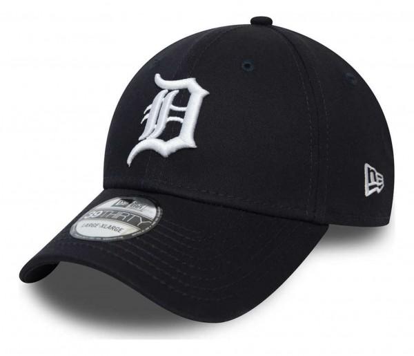 New Era - MLB Detroit Tigers League Essential 39Thirty Stretch Cap - Blau Ansicht vorne schräg rechts