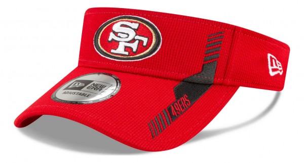 New Era - NFL San Francisco 49ers 2021 Sideline Home Visor - Rot Ansicht vorne schräg links