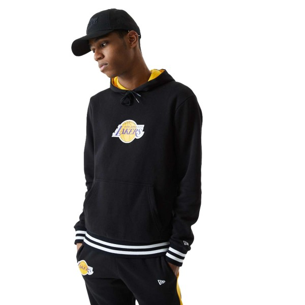 New Era - NBA Los Angeles Lakers Varsity Detail Hoodie - Schwarz Vorderansicht