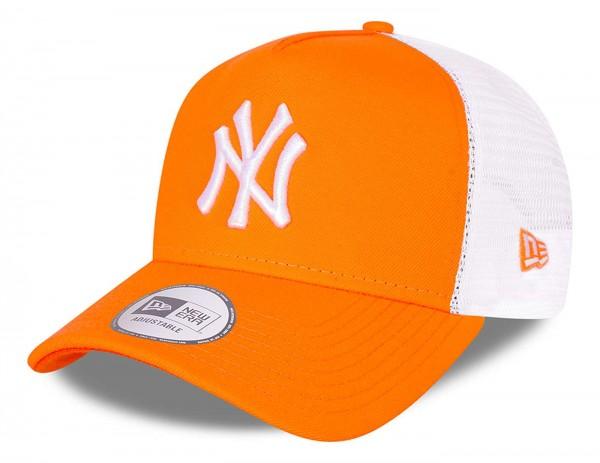 New Era - MLB New York Yankees Tonal Mesh Trucker Snapback Cap - Orange Ansicht vorne schräg links