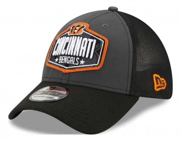 New Era - NFL Cincinnati Bengals 2021 Draft 39Thirty Trucker Stretch Cap - Mehrfarbig Ansicht vorne schräg links