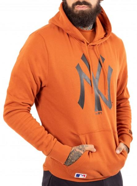 New Era - MLB New York Yankees Seasonal Team Logo Hoodie - Orange Ansicht schräg vorne rechts