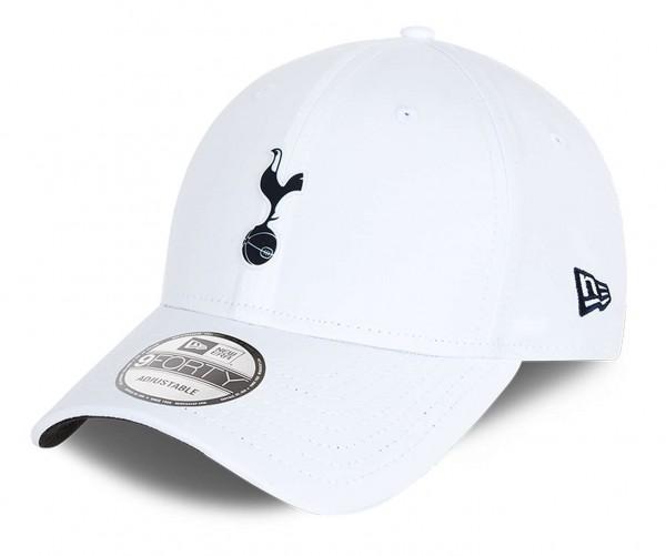 New Era - EPL Tottenham Hotspur Rubber Patch 9Forty Strapback Cap - Weiß Ansicht vorne schräg links