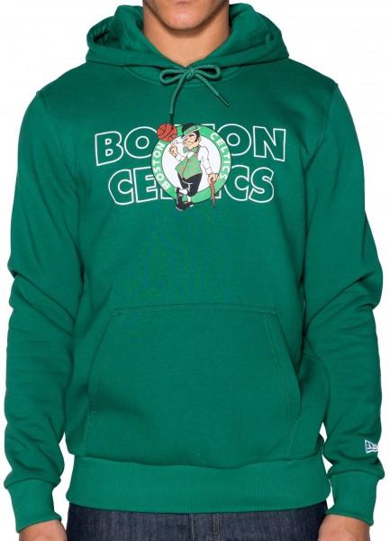 New Era - NBA Boston Celtics Graphic Overlap Hoodie - Grün Vorderansicht