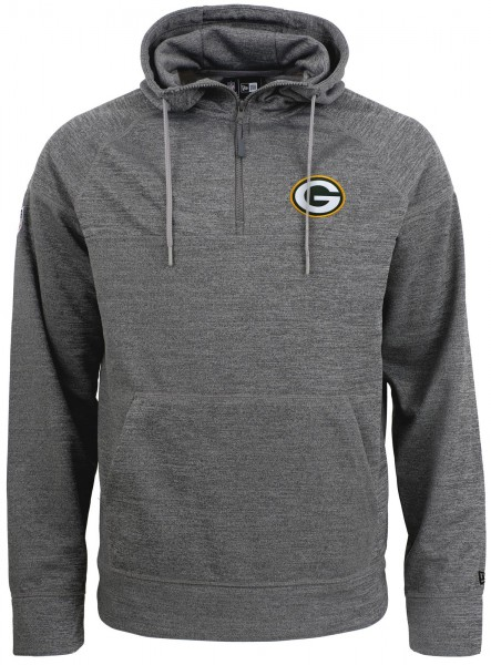 New Era - NFL Green Bay Packers Jersey Zip Hoodie - Grau Vorderansicht