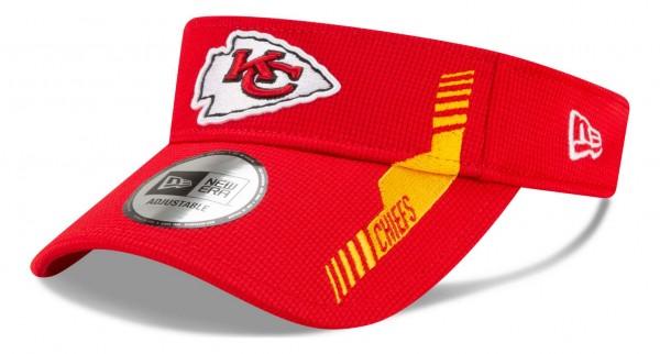 New Era - NFL Kansas City Chiefs 2021 Sideline Home Visor - Rot Ansicht vorne schräg links