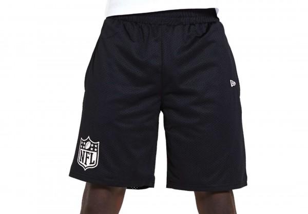 New Era - NFL Shield Jersey Shorts - Schwarz Vorderansicht