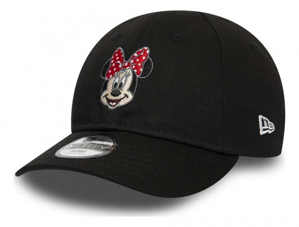 New Era - Disney Minny Mouse Character Face 9Forty Kids Strapback Cap - Schwarz Ansicht vorne schräg rechts