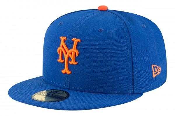 New Era - MLB New York Mets Authentic Collection EMEA 59Fifty Fitted Cap - Blau Ansicht vorne schräg links
