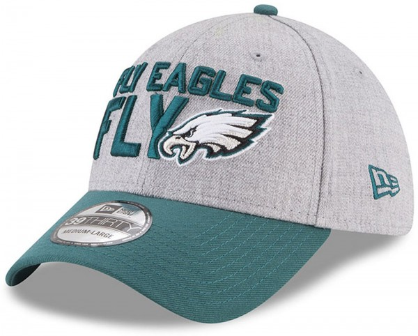 New Era - NFL Philadelphia Eagles Draft 2018 On Stage 39Thirty Cap - Grau-Grün