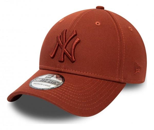New Era - MLB New York Yankees League Essential 39Thirty Stretch Cap - Blau Ansicht vorne schräg links