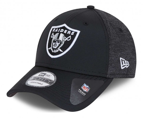New Era - NFL Las Vegas Raiders Engineered Fit 2 9Forty Strapback Cap - Grau Ansicht vorne schräg links