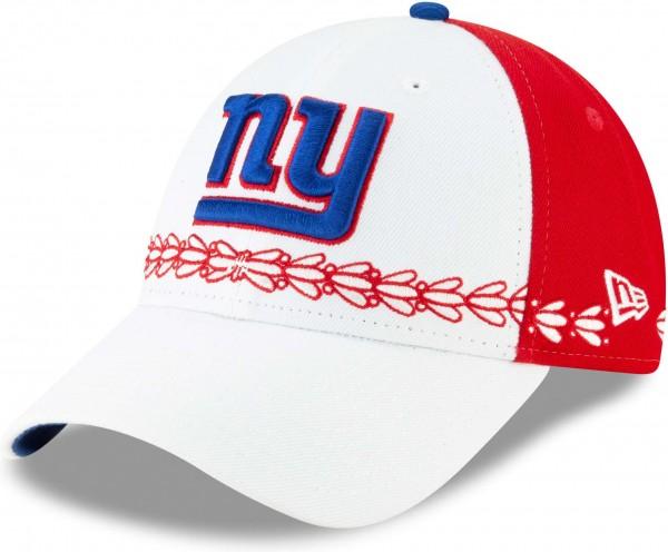 New Era - NFL New York Giants Draft 2019 On-Stage 9Forty Strapback Cap - Weiss Ansicht schräg links