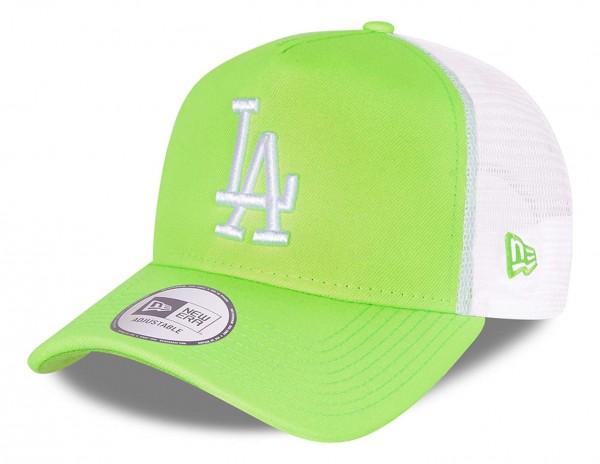 New Era - MLB Los Angeles Dodgers Tonal Mesh Trucker Snapback Cap - Grün Ansicht vorne schräg links