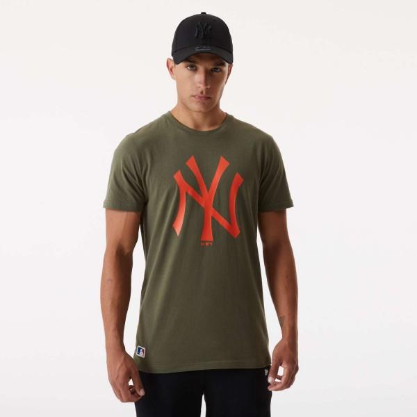 New Era - MLB New York Yankees Seasonal Team Logo T-Shirt - Grün Vorderansicht