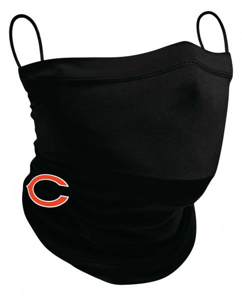New Era - NFL Chicago Bears Neck Gaiter Halstuch Gesichtsmaske - Schwarz Ansicht vorne schräg rechts