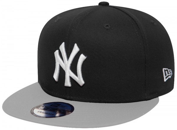 New Era - MLB New York Yankees Cotton Block 9Forty Cap - Schwarz-Grau