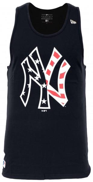 New Era - MLB New York Yankees Team Apparel Logo Tank Top - Blau Vorderansicht