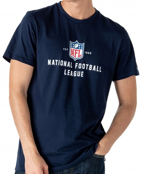 New Era - NFL Established T-Shirt - Blau Vorderansicht